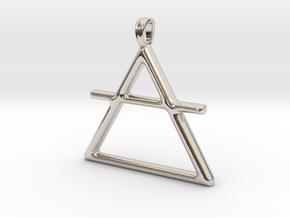 AIR Alchemy symbol Jewelry pendant in Platinum