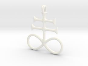 SULFUR Alchemy Symbol Jewelry Pendant in White Processed Versatile Plastic