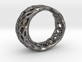 Frohr Design Radiolaria Ring in Polished Nickel Steel