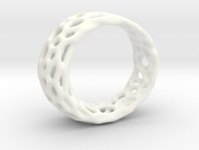 Frohr Design Radiolaria Ring in White Processed Versatile Plastic