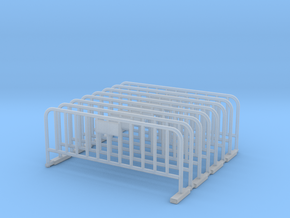 Barrier 01 (portable fence). O Scale (1:48) in Smooth Fine Detail Plastic