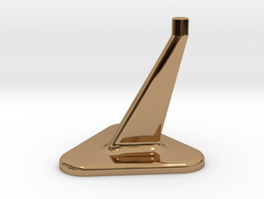 Model Stand / 3mm diameter on top in Polished Brass