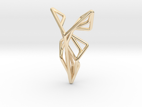 A-LINE Flying F.01 Pendant in 14K Yellow Gold