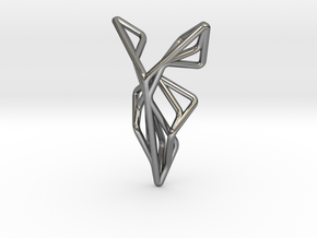 A-LINE Flying F.01 Pendant in Fine Detail Polished Silver