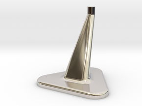 Model Stand / 3mm diameter on top / Hollowed 0,8mm in Rhodium Plated Brass