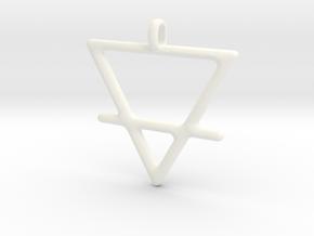 EARTH Alchemy Jewelry Symbol Pendant in White Processed Versatile Plastic