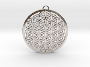 Flower of Life (Large) in Platinum