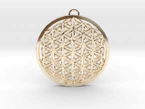 Flower of Life (Large) in 14k Gold Plated Brass