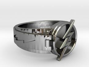 V3 Regular Flash Size 9 3/4, 19.62mm in Fine Detail Polished Silver