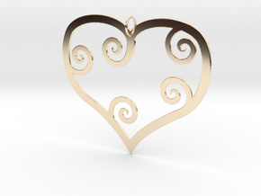 Heart Shaped Pendant in 14K Yellow Gold