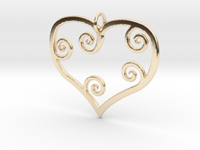 Heart Pendant Charm in 14K Yellow Gold
