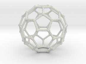 0369 Truncated Icosahedron V&E (a=1cm) #002 in Full Color Sandstone