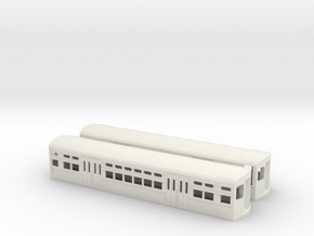 CTA 6000 Series, Late Curved Door Pair in White Natural Versatile Plastic