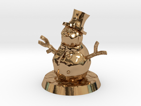 28mm/32mm Snowman in Polished Brass