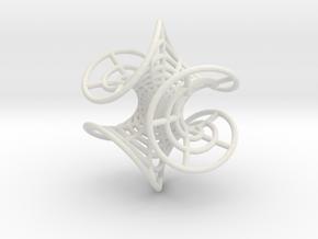 Enneper' Mesh Earring in White Natural Versatile Plastic
