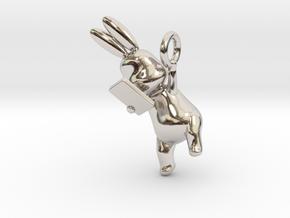 Phoneholic Rabbit Pendant in Rhodium Plated