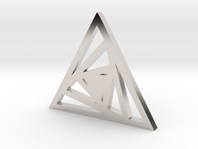 Triangle Pendant- Sacred Geometry Collection in Platinum