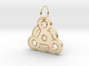 Magic Pendant in 14k Gold Plated Brass