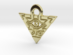 Flat Millennium Puzzle Charm in 18k Gold Plated Brass