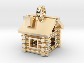 Cabin Charm in 14k Gold Plated Brass