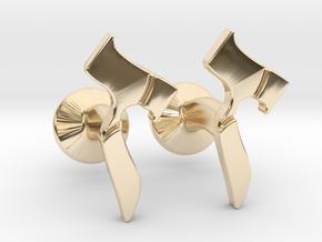 Hebrew Monogram Cufflinks - Devorah & Joey in 14k Gold Plated Brass