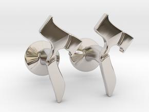 Hebrew Monogram Cufflinks - Devorah & Joey in Rhodium Plated Brass