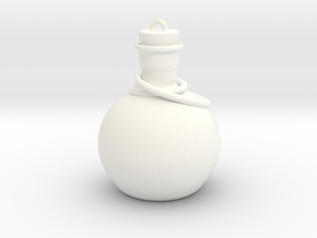 Mini Potion Ornament in White Strong & Flexible Polished