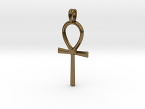 Ankh Symbol Jewelry Pendant in Polished Bronze