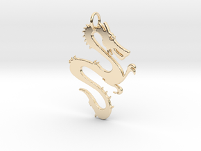 Dragon Pendant & Charm in 14k Gold Plated Brass