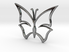 Butterfly Pendant & Charm in Fine Detail Polished Silver
