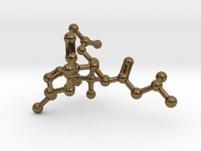 Neurolenin B Molecule Necklace in Polished Bronze