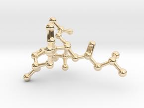 Neurolenin B Molecule Necklace in 14k Gold Plated Brass