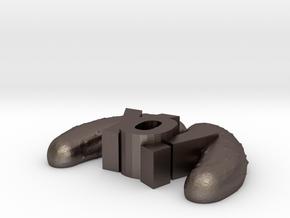 YoPicklesTiny in Polished Bronzed Silver Steel