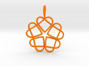 CODE SL04Z4R2 - PENDANT in Orange Processed Versatile Plastic