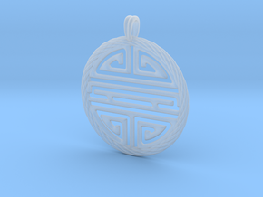 Shou Symbol Jewelry Pendant in Smooth Fine Detail Plastic
