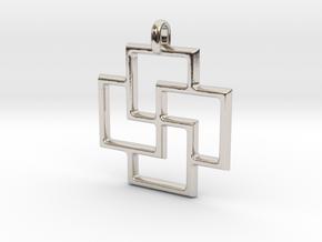 Tursaansydan Jewelry Symbol Pendant in Platinum