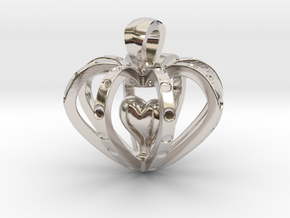 Heart in the Heart pendant in Platinum