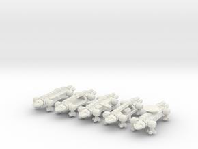 1/1000 Scale 2050 War Eagles X5 in White Natural Versatile Plastic