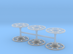 Set of 6 Brake wheels in Smoothest Fine Detail Plastic