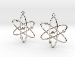 Atom Earring Set in Rhodium Plated Brass