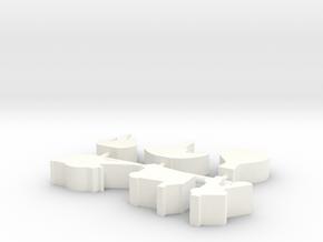 Custom Order 113015 6-set in White Processed Versatile Plastic