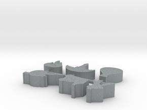 Custom Order 113015 6-set in Polished Metallic Plastic