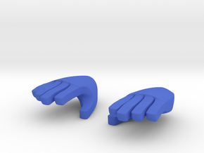 Hand type 2 in Blue Processed Versatile Plastic