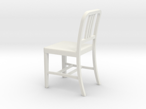 Miniature 1:18 Aluminum 1 Chair (not full size) in White Natural Versatile Plastic