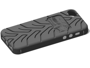 iPhone 5 Cadillac CTS A048 tread in Black Natural Versatile Plastic