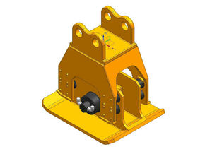 HO 1/87 vibratory compactor with flange mounting in Smooth Fine Detail Plastic