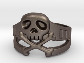 Space Captain Harlock | Ring size 10 in Polished Bronzed Silver Steel: 10 / 61.5