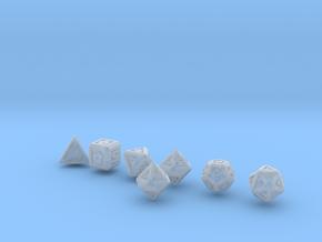 FUTURISTIC GESTALT dice in Smooth Fine Detail Plastic