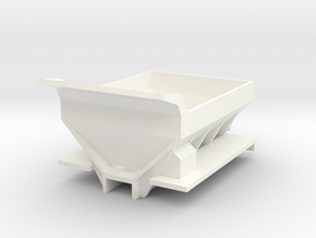 Fertilizer Spreader Box for Ertl Floater Trucks in White Processed Versatile Plastic