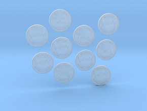 TEN Coins of Acheron in Smooth Fine Detail Plastic